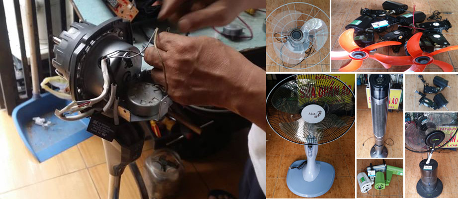 Điện Cơ Hữu Thịnh nhận sửa chữa hầu hết các loại quạt thông dụng hiện có trên thị trường.